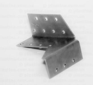 Крепление балок раздельное открытое правое 32x100x75x2,0мм, CWDB2P
