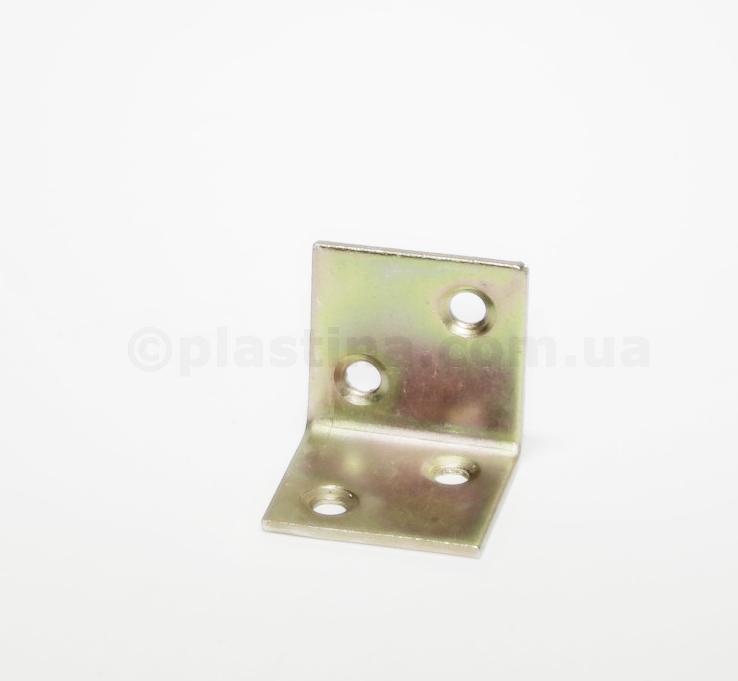 Уголок мебельный желтый цинк 30x30x30x2,0мм, KS1