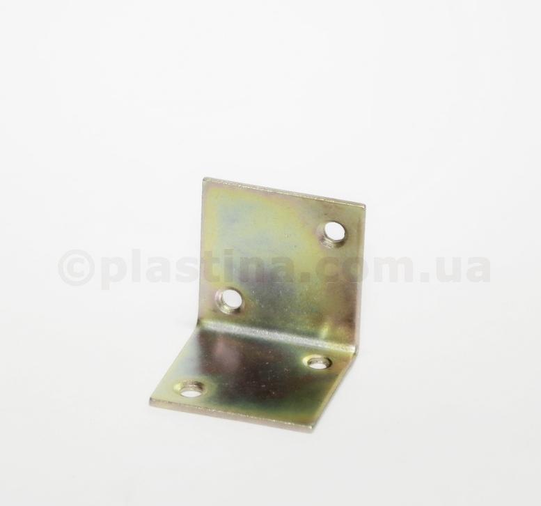 Уголок мебельный желтый цинк 40x40x40x2,0мм, KS2