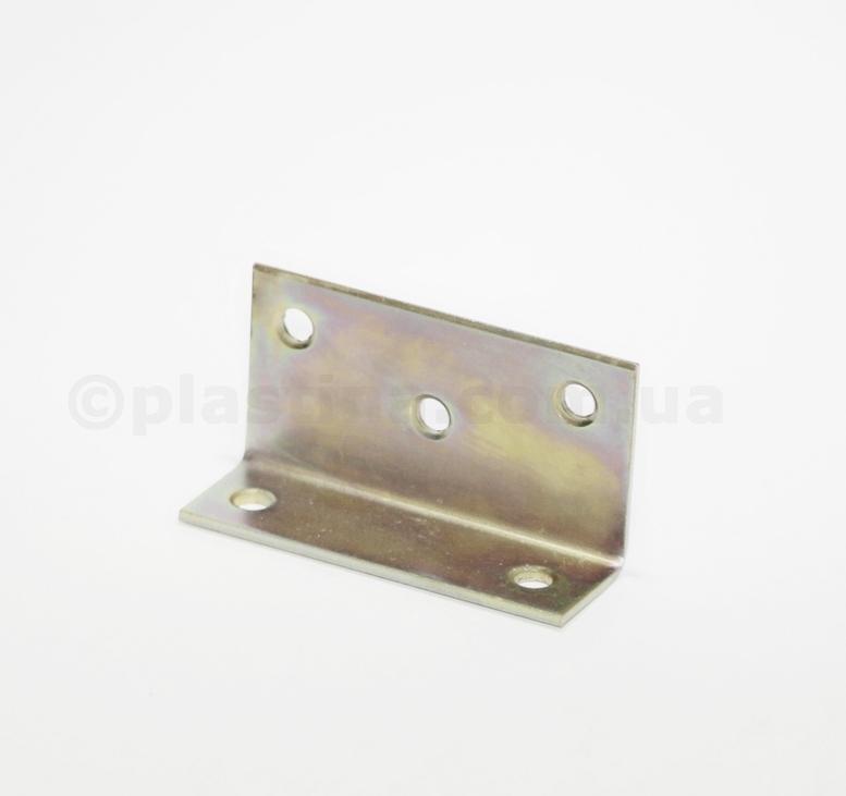 Уголок мебельный желтый цинк 75x40x25x2,0мм, KS4