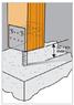 Опора столба для бетонирования 80x60x125x5,0мм, U80