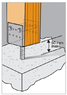 Опора столба для бетонирования 200x60x125x5,0мм, U200