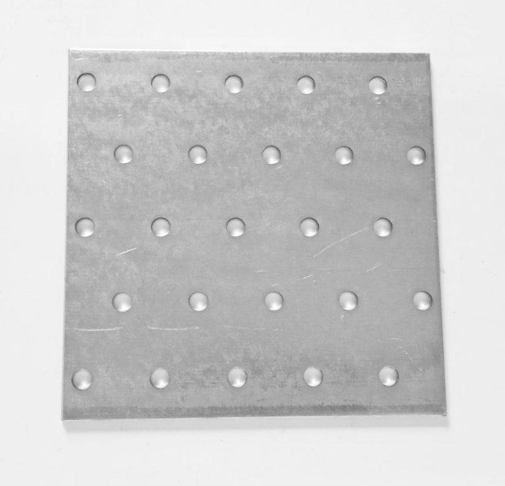Пластина перфорированная 100x100x2,0мм, LP-100100D