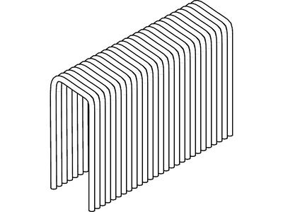 Скобовая кассета типа H500 10,8 x 35 оцинк для MS 500/40 ESSVE (Швеция), (пачка 3000шт)