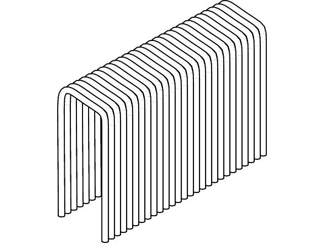 Скобовая кассета типа H500 10,8 x 20 оцинк для MS 500/40 ESSVE (Швеция), (пачка 5800шт)