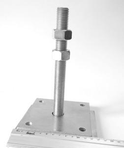 База колонны регулируемая (домкрат) 120x120/140x100/6/M20x200мм, PB120