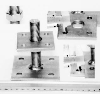 База колонны регулируемая (домкрат) 70x70/90x90/6/M20x100мм, PB70