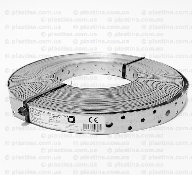 Перфорированная монтажная лента прямая 20x1,0мм x25м, TM9L25