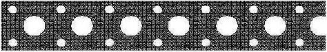 Перфорированная монтажная лента прямая 12x0,55мм x25м, TMP1205525