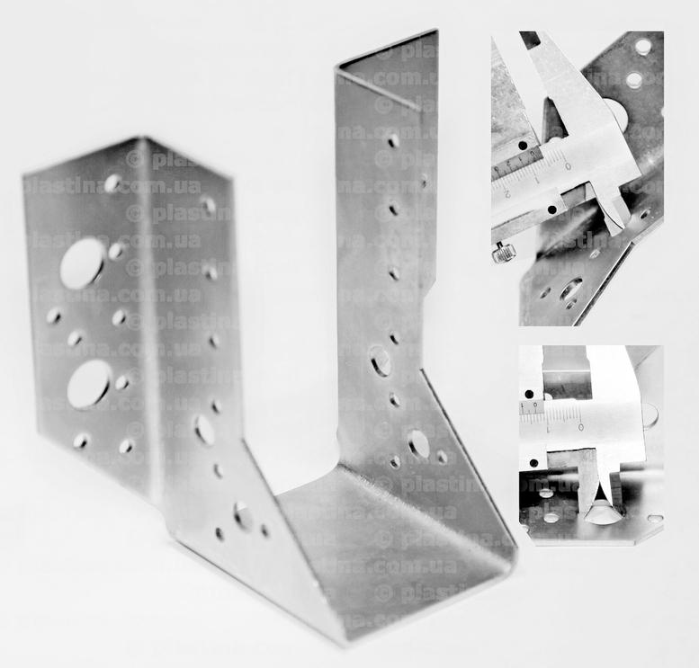Крепление балок открытое 60x125x80x2,0мм, WB-13