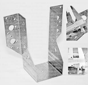 Крепление балок открытое 70x155x75x2,0мм, WB-17