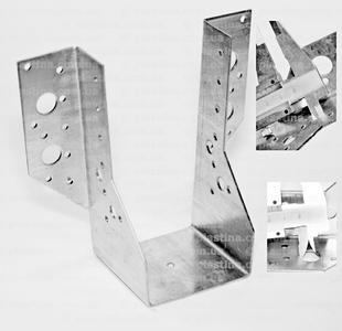 Крепление балок открытое 75x182x75x2,0мм, WB-75182