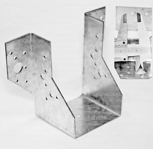 Крепление балок открытое 80x150x75x2,0мм, WB-80150
