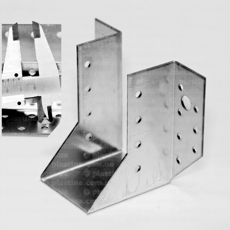 Крепление балок открытое 60x100x80x2,0мм, WB-610