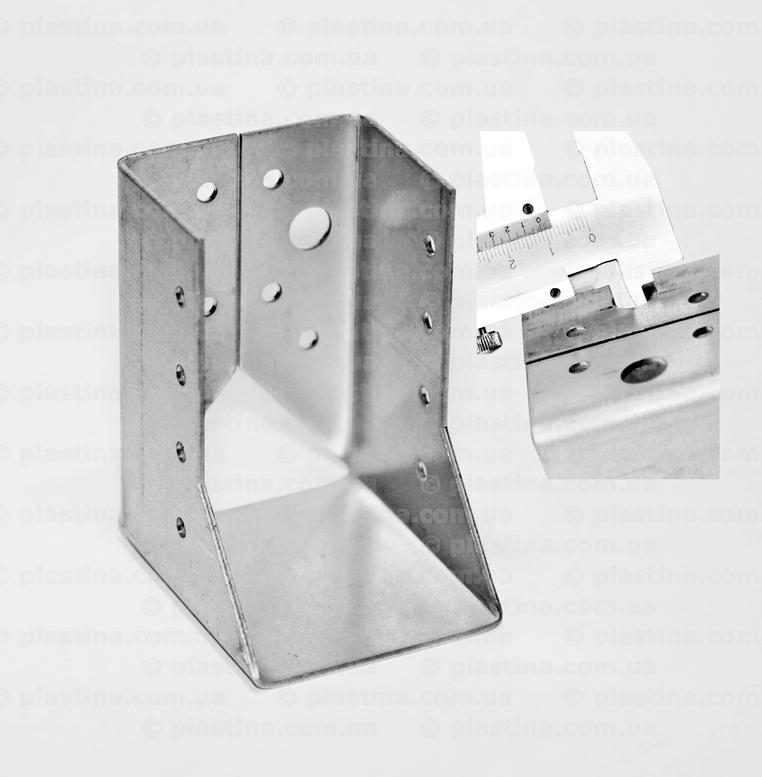 Крепление балок закрытое 60x100x75x2,0мм, WC-610