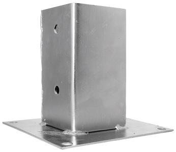 Опора столба плоская для прикручивания 91х91х150х2,0мм, KOP91