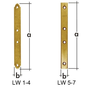 Пластина узкая 50x15x2,0мм, LW-1