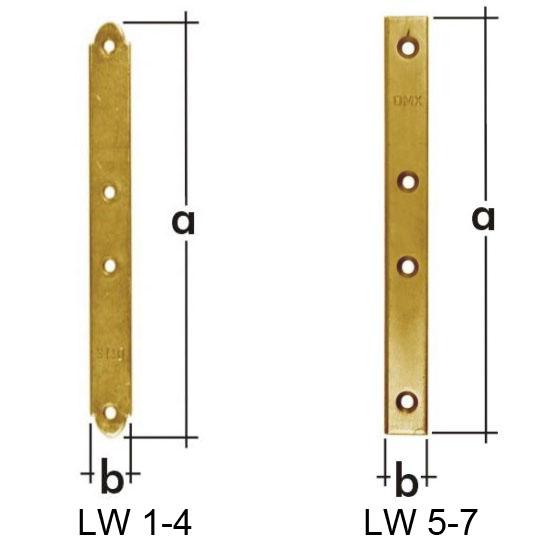 Пластина узкая 100x15x2,0мм, LW-4