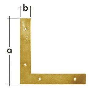 Уголок плоский 75x12x2,0мм, NA-7